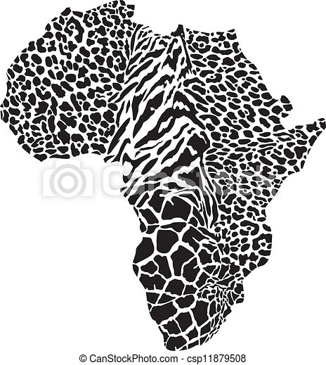 Africa in a animal camouflage - csp11879508