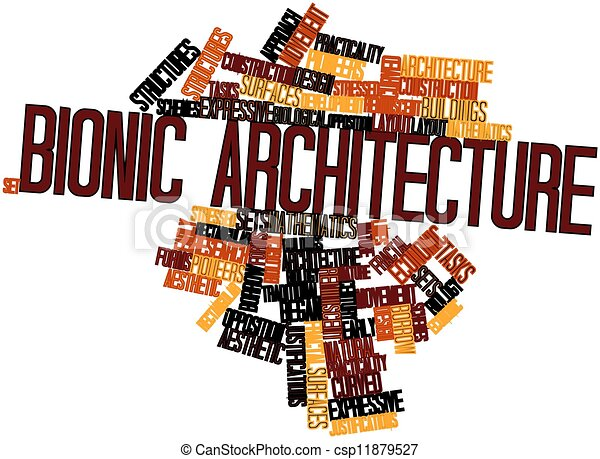 Word cloud for Bionic architecture - csp11879527