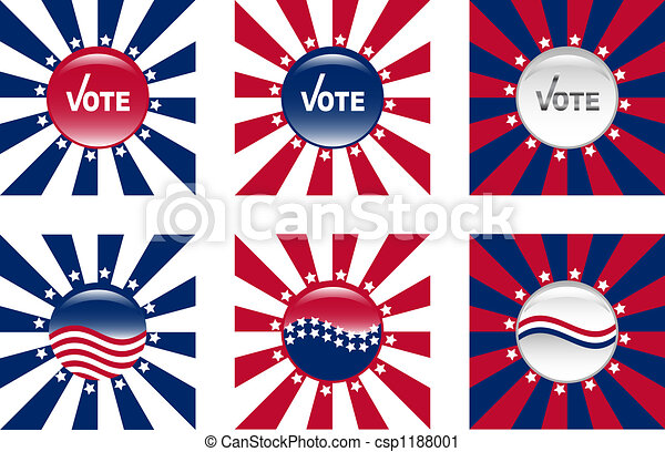 Buttons for American elections - csp1188001