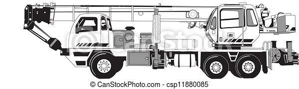 Vecteur de grue mobile construction crane mobile - Dessin de grue ...