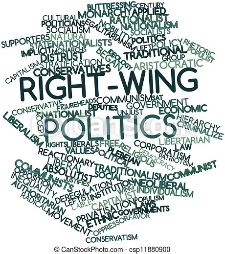 Right-wing politics - csp11880900