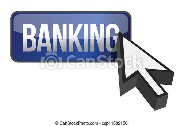 online banking button - csp11882156