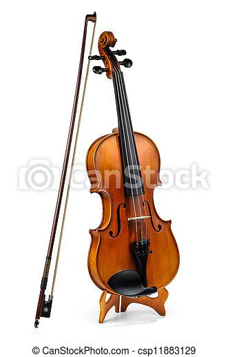 Violin and fiddle stick - csp11883129