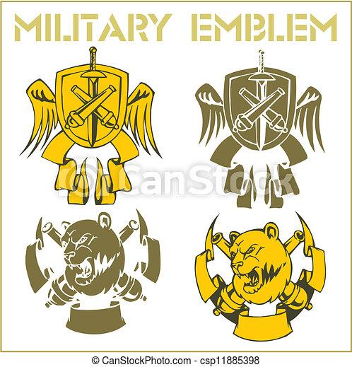EPS Vectors of Military Emblem - Vector Set. - Military Emblem ...