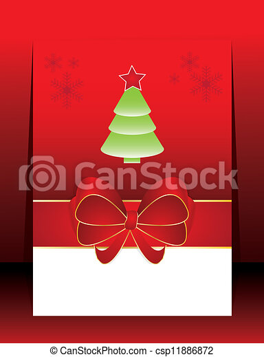 Abstract christmas holiday greeting card - csp11886872