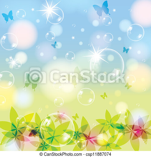 Abstract spring summer background - csp11887074