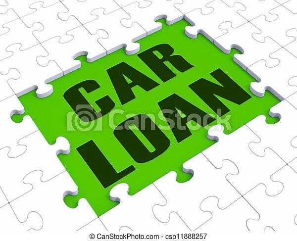 Car Loan Shows Automobile Sales - csp11888257