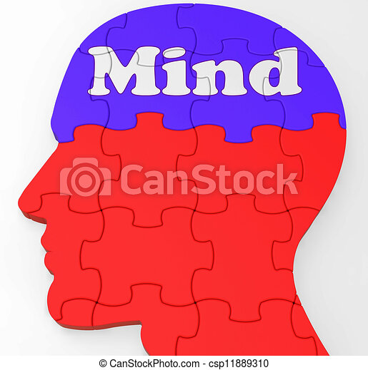 Clipart of Mind Profile Shows Thoughts Ideas And Brainstorming - Mind ...