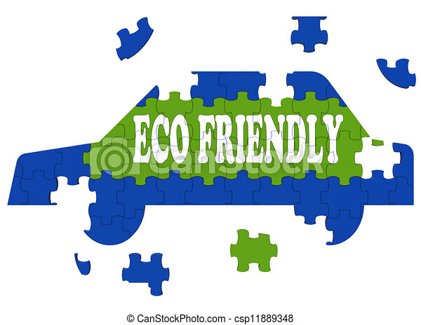 Eco Friendly Car Means Environmentally Clean Automobile - csp11889348