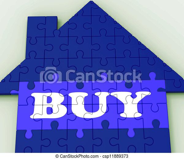 Buy House Shows Investment In Residential Home - csp11889373