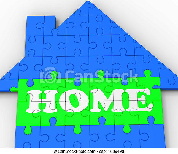 Home House Shows Residential Property - csp11889498