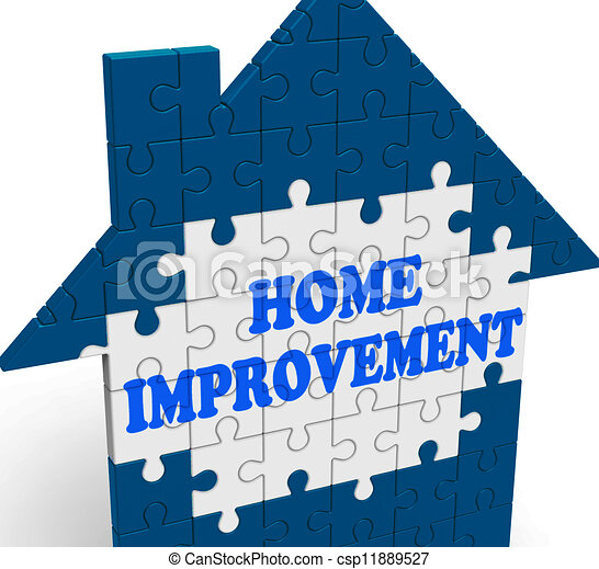 home improvement house means renovate or restore csp11889527