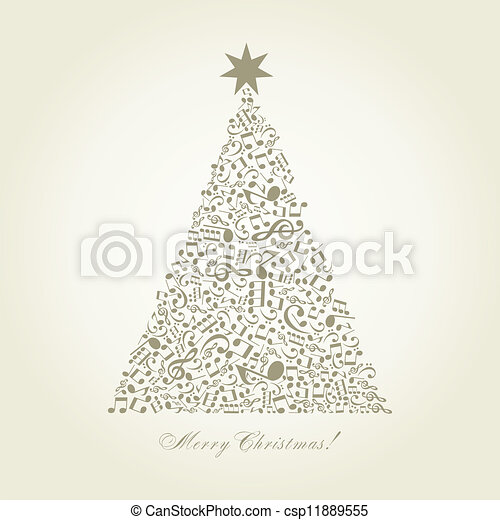 Musical Christmas tree - csp11889555