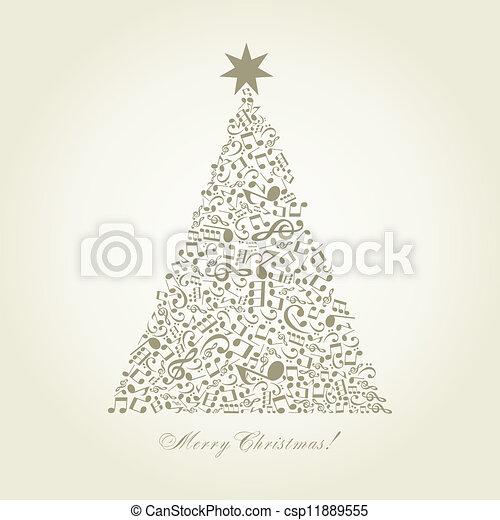 Musical Christmas tree - csp11889555