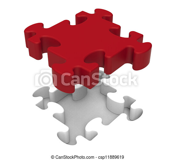 Jigsaw Piece Shows Individual Object Problem - csp11889619