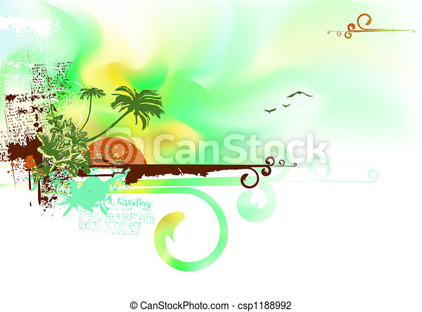 tropical ocean coast - csp1188992