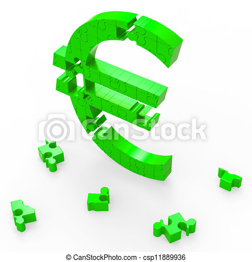 Euro Sign Shows Banking Savings And Security - csp11889936