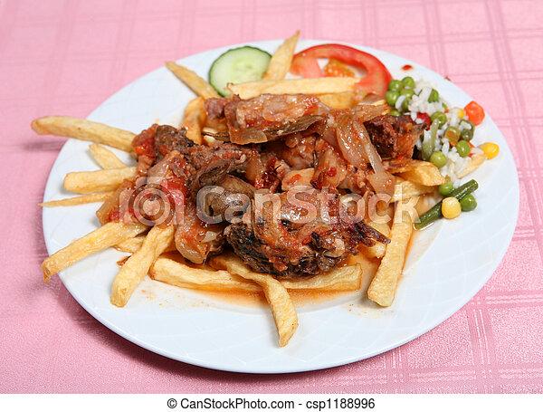 Greek taverna beef stifado - csp1188996