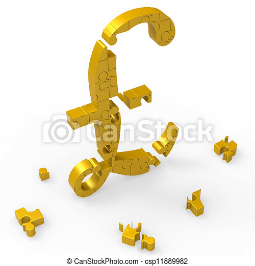 Pound Symbol Shows Wealth Currency And Banking - csp11889982