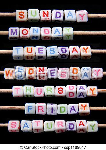 settimana, giorni - csp1189047