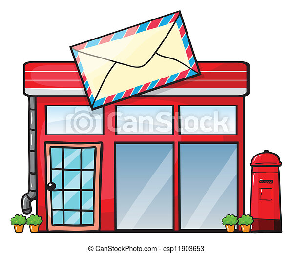 clipart vector of a post office illustration of a post christmas mailbox clipart free christmas mailbox clipart free