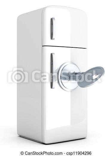 illustration de verrouill frigidaire a verrouill classique csp11904296 recherchez. Black Bedroom Furniture Sets. Home Design Ideas