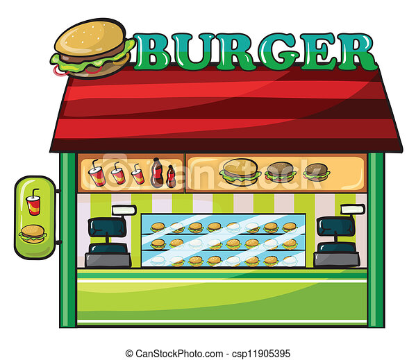 Eps Vectors Of A Fastfood Restaurant Illustration Of A