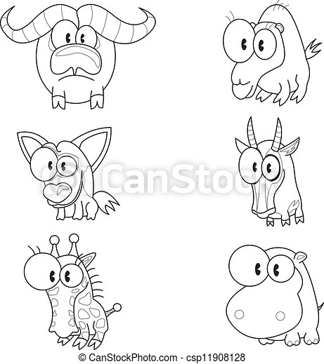 Cartoon animals - csp11908128