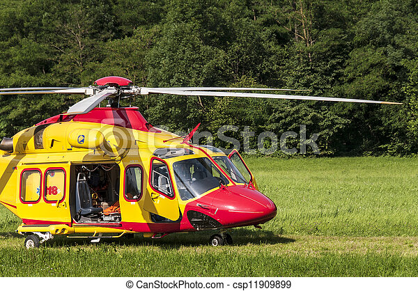 Emergency rescue helicopter - csp11909899