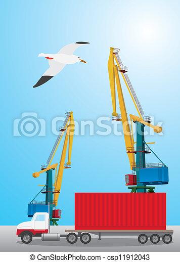 Container transportation - csp11912043