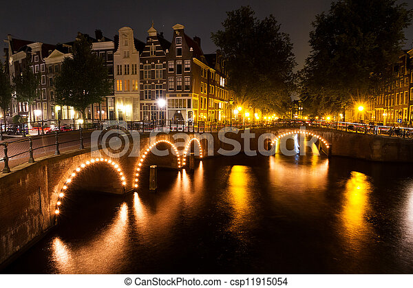 Amsterdam bridges - csp11915054