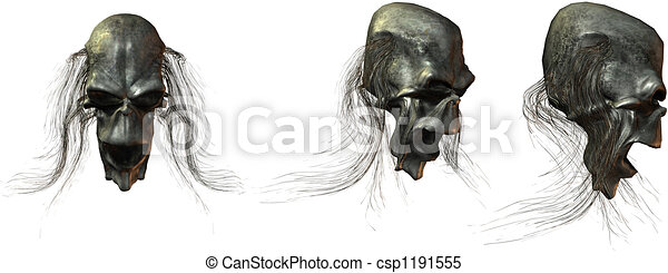 3D Fantasy Skulls - csp1191555