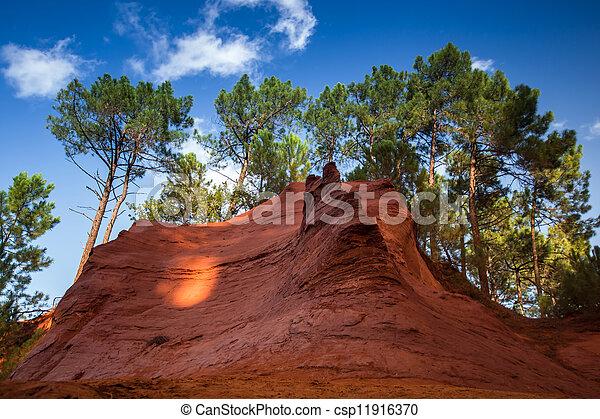 Red rocs of jaune in Roussilon - csp11916370