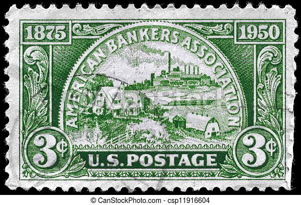 USA - CIRCA 1950 Banking Service - csp11916604