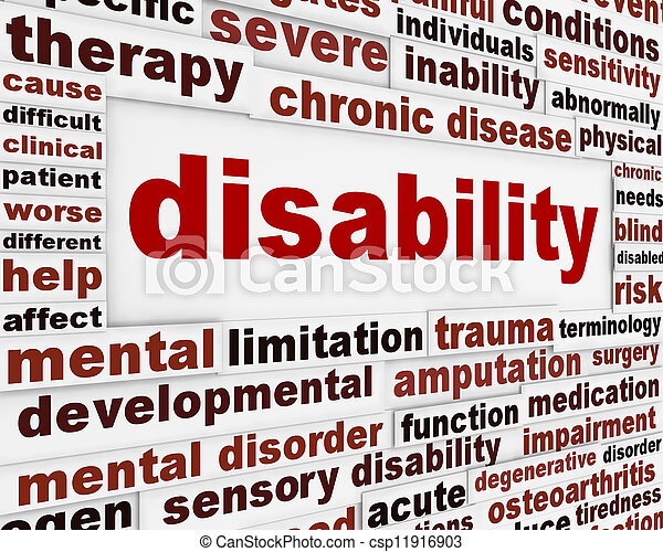Disability medical message background - csp11916903
