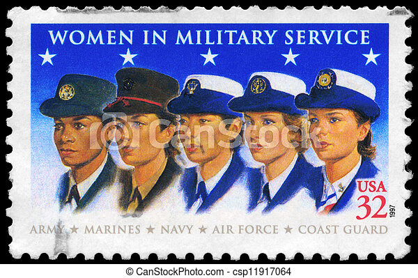USA - CIRCA 1997 Military Women - csp11917064
