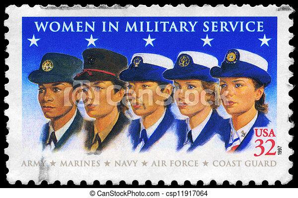 USA - CIRCA 1997 Military Women - csp11917064