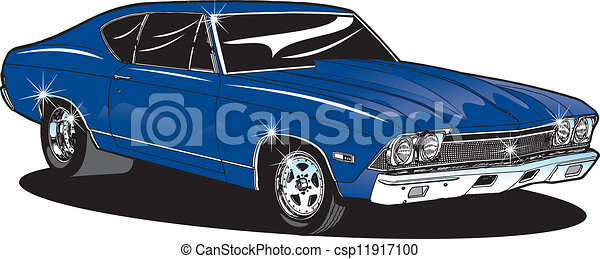 Vector Clipart Of Muscle Car S Muscle Car