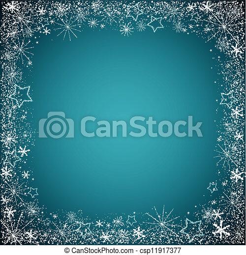 christmas snowflakes border - csp11917377