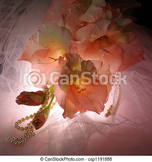 Wedding bouquet gladiolus - csp1191888