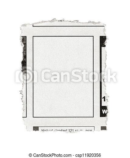Stock beelden van krant advertentie leeg stuk van papier met leeg csp11920356 zoek - Advertentie stuk ...