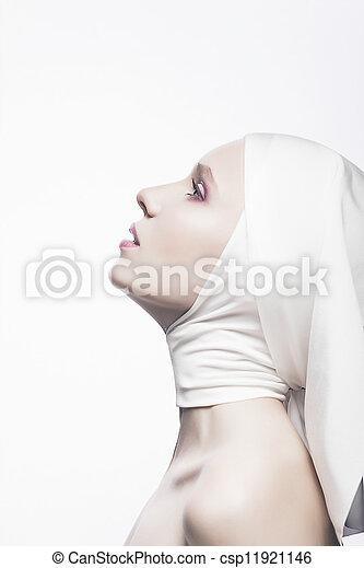 Grace. Cult. Praying Religious Woman - Church Concept - csp11921146