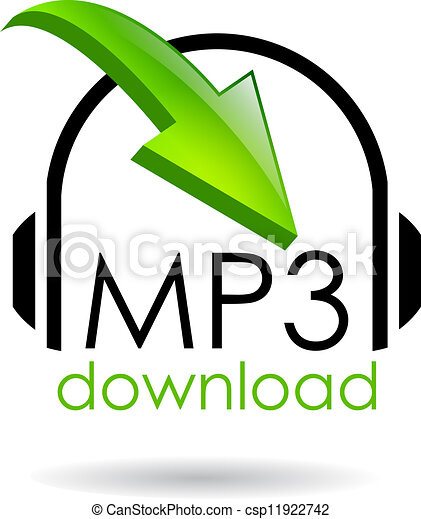 Mp3 download vector symbol - csp11922742