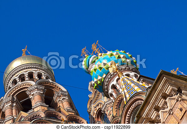 Domes of Church of the Savior on Spilled Blood   - csp11922899
