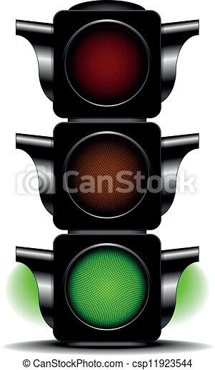 EPS Vector of traffic light green - illustration of a traffic ...