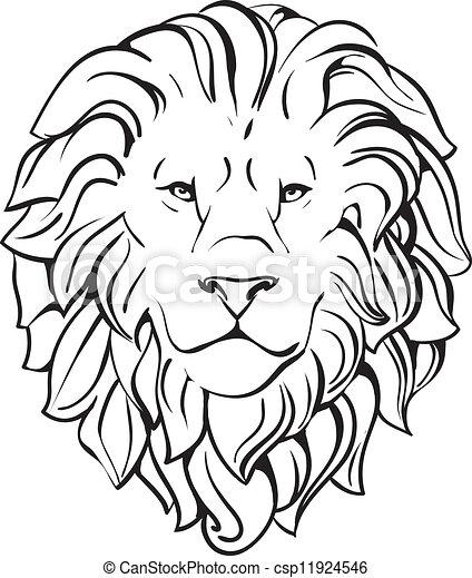 Vetor eps de cabe a le o cabe a de le o vetorial - Tete de lion dessin facile ...