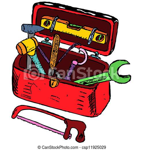 Toolbox Vector Clipart Royalty Free. 5,918 Toolbox clip art vector ...