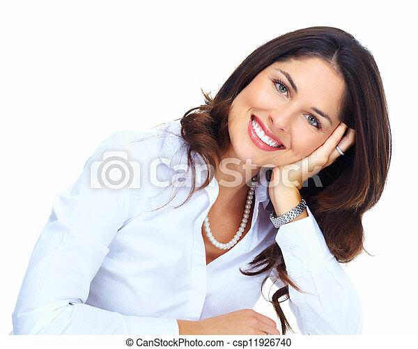 Beautiful young business woman. - csp11926740