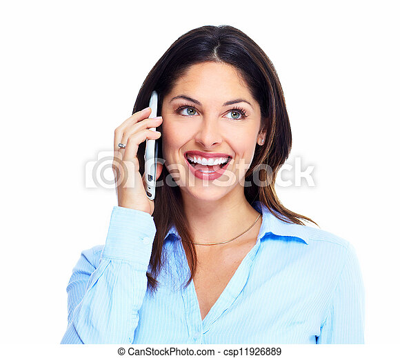 Woman with a cell phone. - csp11926889