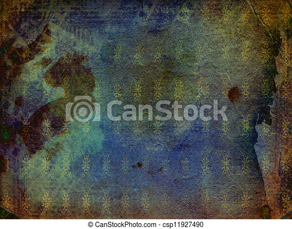 Grunge ancient used paper in scrapbooking style  - csp11927490